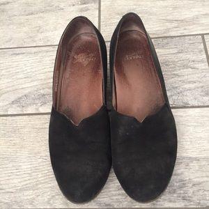 Dansko Black Lilian Wedge Nubuck Leather Shoes 41